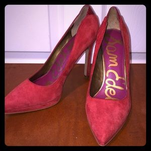 Sam Edelman Red Suede Shoes size 9
